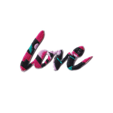 Love (Pink) Iron On Patch - Iron On Patches - Pew Pew Patches - Naiise