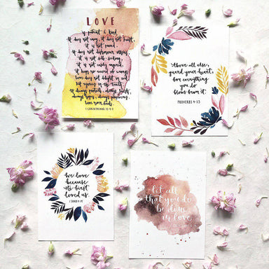 Love Series | Inspirational Postcards (Set of 4) - Postcards - Papercranes Design - Naiise