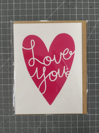 Love You Heart Card Love Cards Fevrier Designs