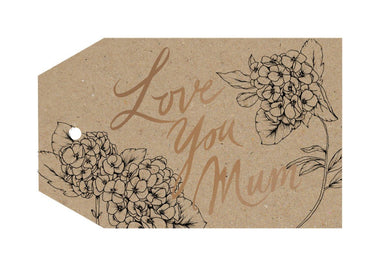 Love You Mum Floral Gift Tag - Gift Tags - Typoflora - Naiise