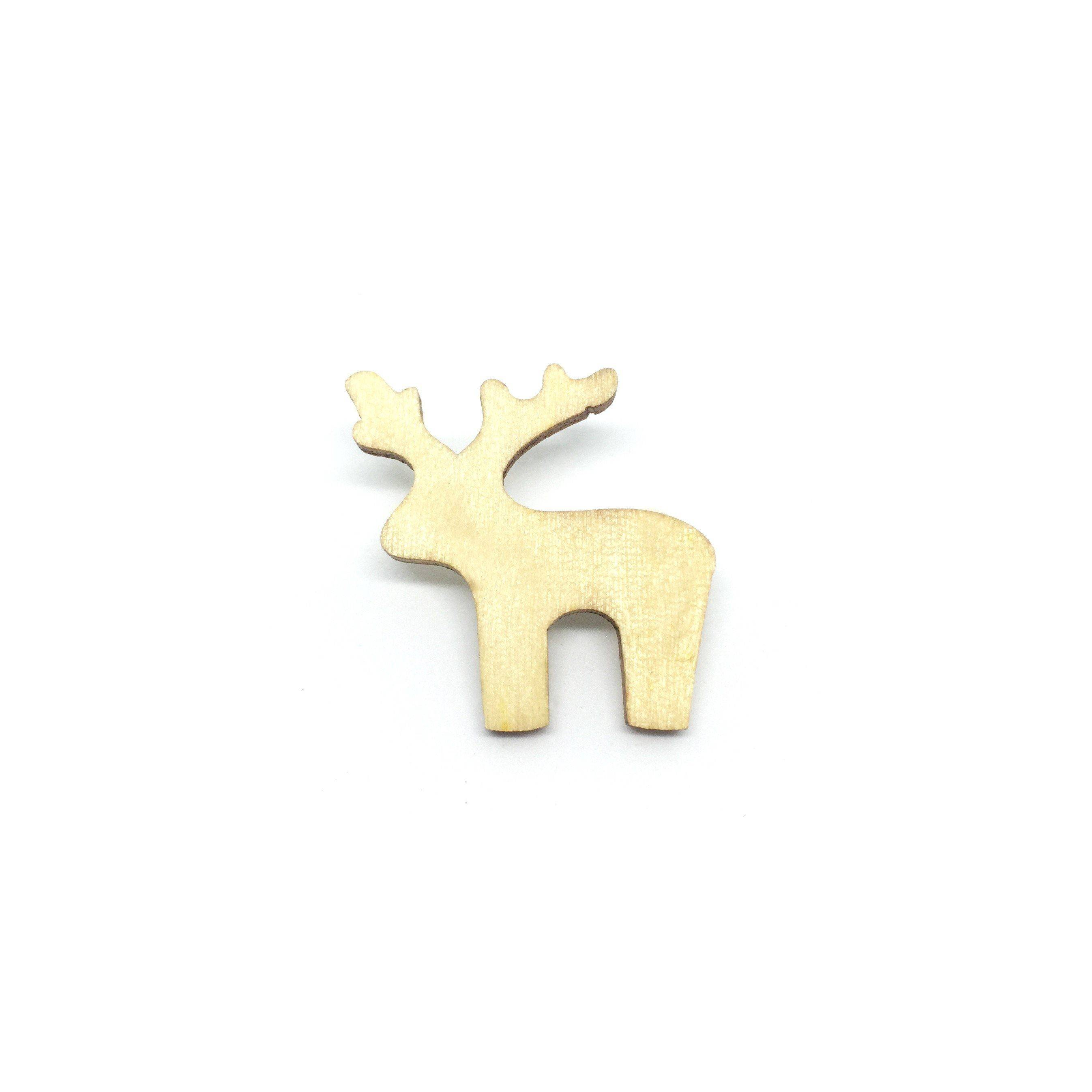 Lovely Deer Wooden Brooch Pin - Brooches - Paperdaise Accessories - Naiise