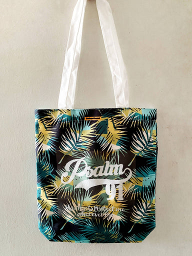 Psalm 91 Foliage Tote Bag - Tote Bags - The Super Blessed - Naiise