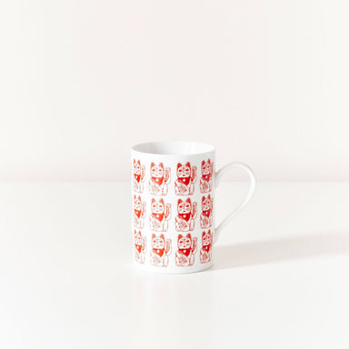 Lucky Cat Mug Mugs Pinyin Press
