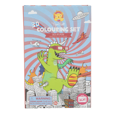 Tiger Tribe 3D Colouring Set - Dinosaurs - Children Colouring Books - The Children's Showcase - Naiise