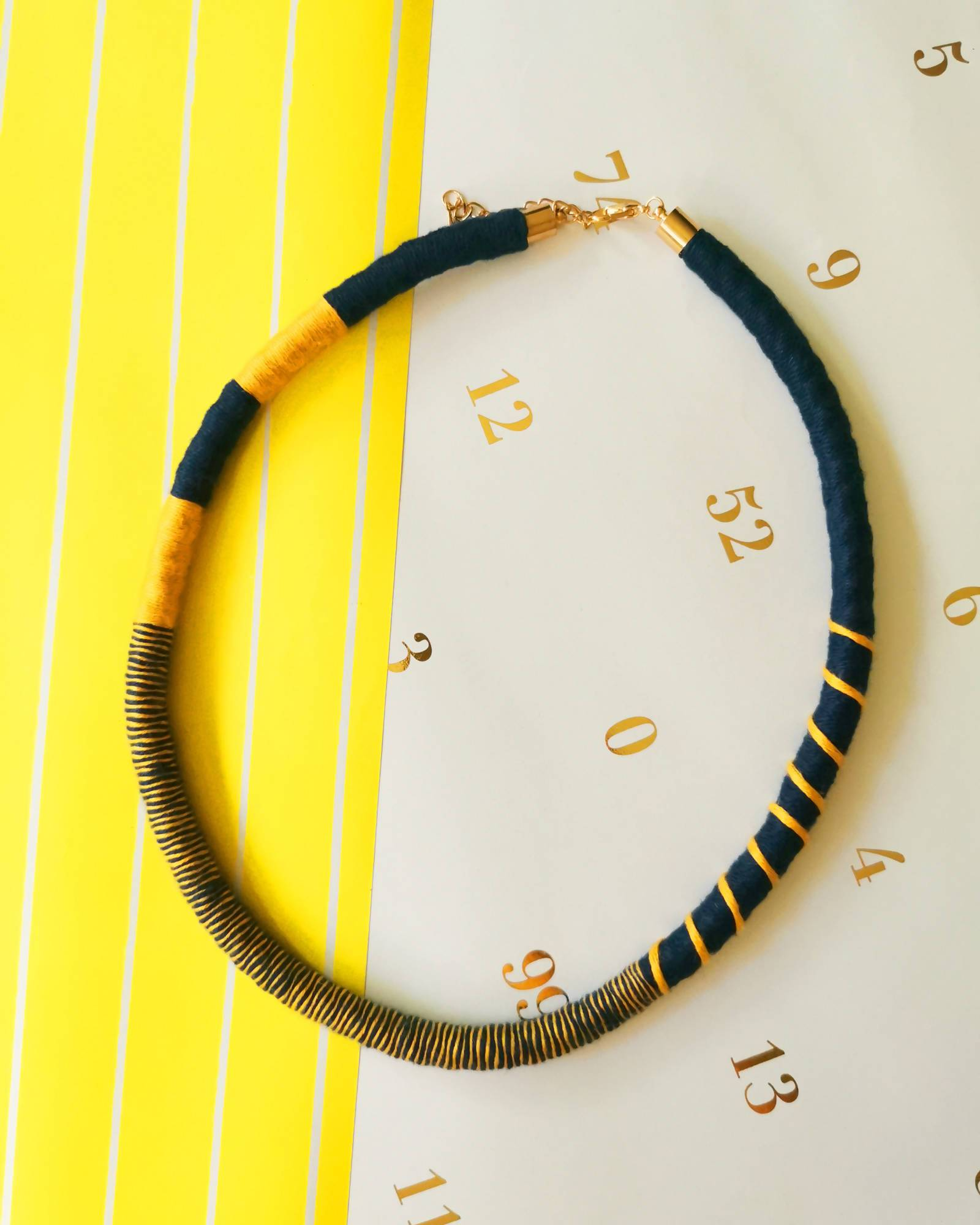 Tribeca Multi-wear Rope Necklace/Bracelet - Navy/Mustard - Necklaces - Playtime Rebs Studio - Naiise