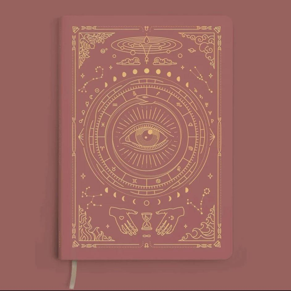 MAGIC OF I VEGAN LEATHER JOURNAL - Coral Rose Notebooks Man & Mage