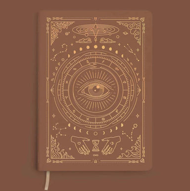 MAGIC OF I VEGAN LEATHER JOURNAL - Desert Brown Notebooks Man & Mage
