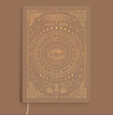 MAGIC OF I VEGAN LEATHER JOURNAL - Fawn Brown Notebooks Man & Mage