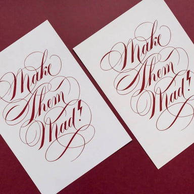 Make Them Mad! - Script Lettering Art Print - Prints - Leah Design - Naiise