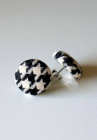 Mama Houndstooth Stud Earrings - Earrings - Paperdaise Accessories - Naiise