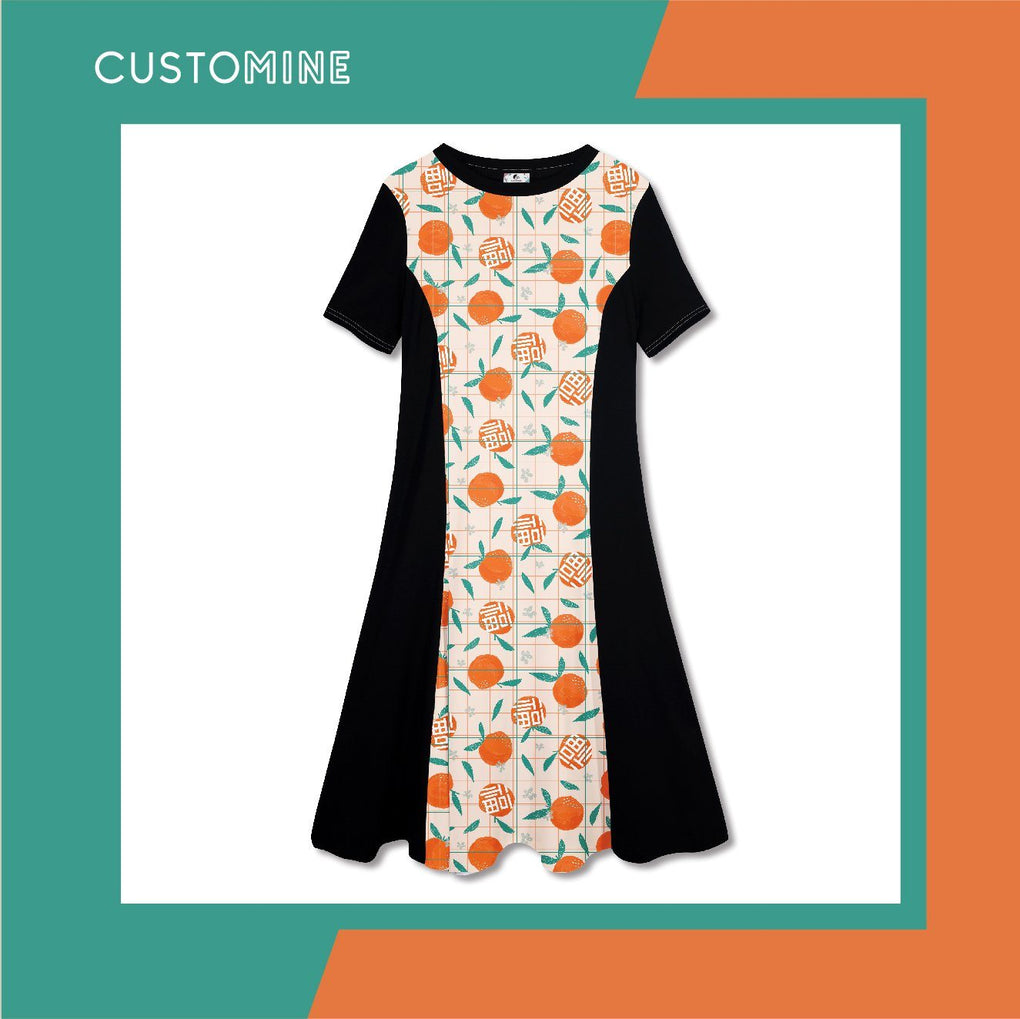 Mandarin Dress Local Dress CUSTOMINE S Orange