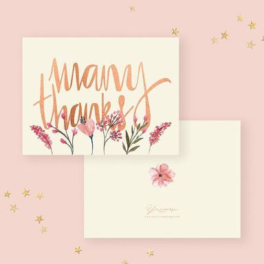 Many Thanks Card Thank You Cards YOUNIVERSE DESIGN