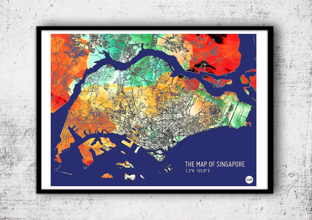 Map of Singapore (2016 special edition) Local Prints UrbanXmaps