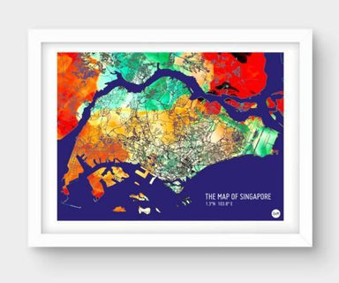 Map Of Singapore - Watercolor Selection - Local Prints - URBAN X MAPS - Naiise