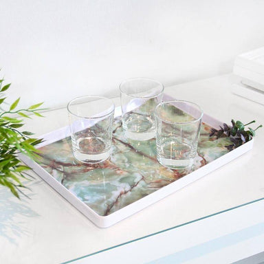 Marble Pattern Serving Tray - Trays - Ok Can Lah - Naiise