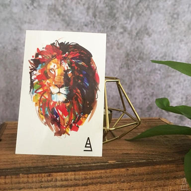 Marker Style Lion Temporary Tattoo - Temporary Tattoos - Imagine Playbook - Naiise