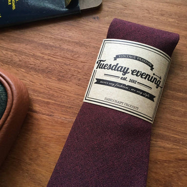 Maroon Red Necktie - Ties - Tuesday Evening - Naiise