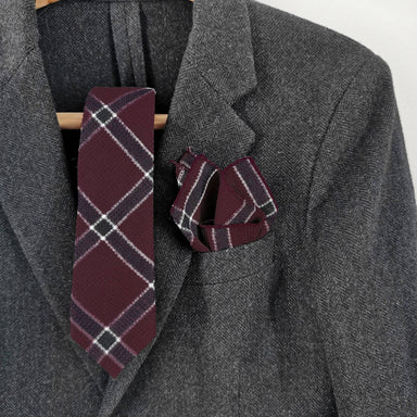 Maroon Red Plaid Set - Ties - Tuesday Evening - Naiise