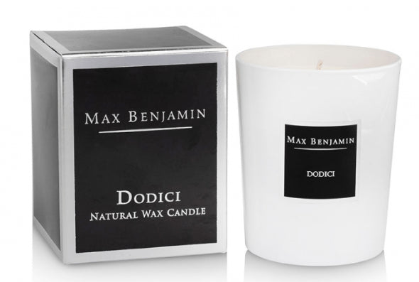 Max Benjamin Classic Scented Glass Candle - Dodici - Intoxicating Scented Candles Max Benjamin