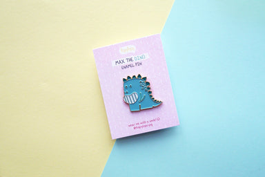 Max the Dino Enamel Pin - Pins - TispyTopsy - Naiise