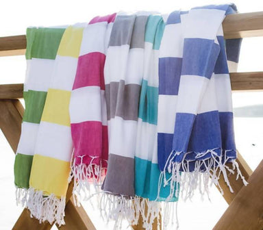 Mediterranean Towel Beach Towels Summer Moments White/Fuschia