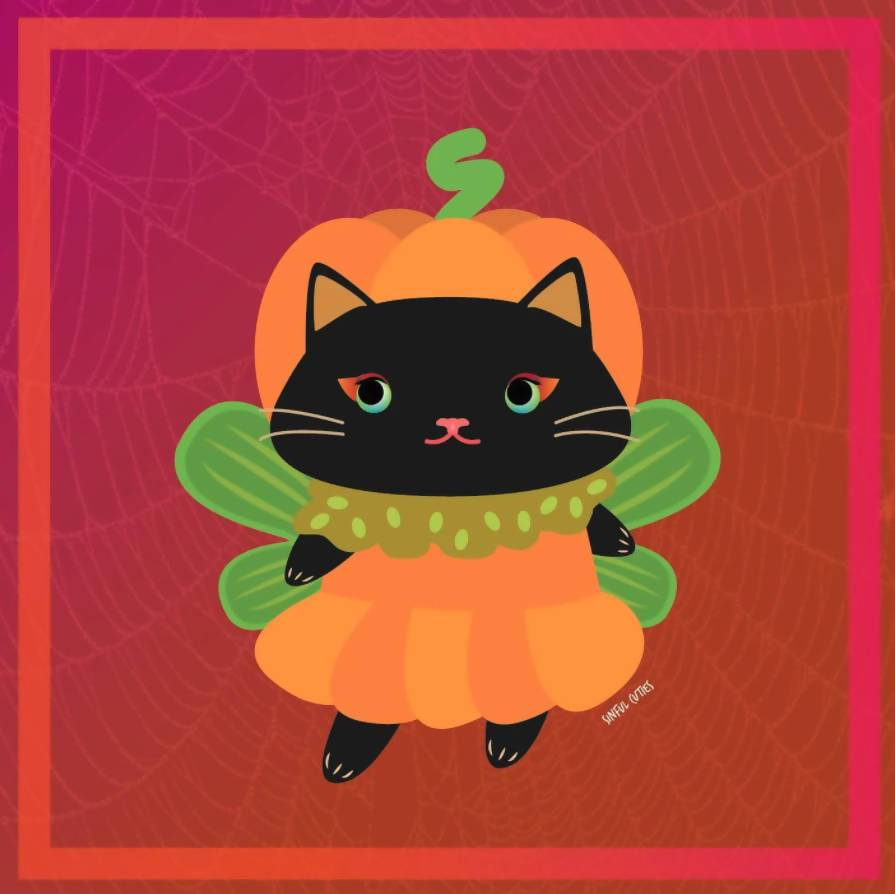 Meowlloween - 6 Pcs Sticker Pack - Stickers - Sinful Cuties - Naiise