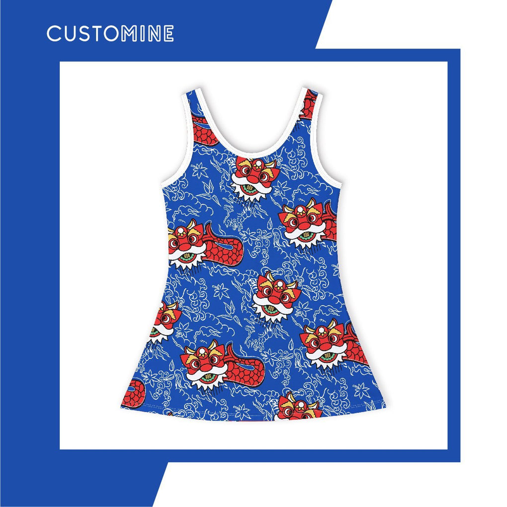 Merlion Dance Girl's Dress Local Baby Clothing CUSTOMINE 2-3Y Blue