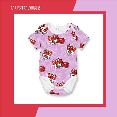 Merlion Dance Romper Local Baby Clothing CUSTOMINE 0-3M Purple Pink