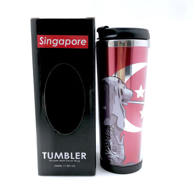 Merlion Posing Double Wall Travel Mug - Local Tumblers - Little Red Box - Naiise
