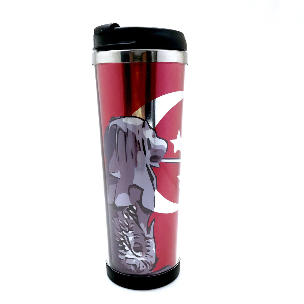 Merlion Posing Double Wall Travel Mug Local Tumblers Little Red Box
