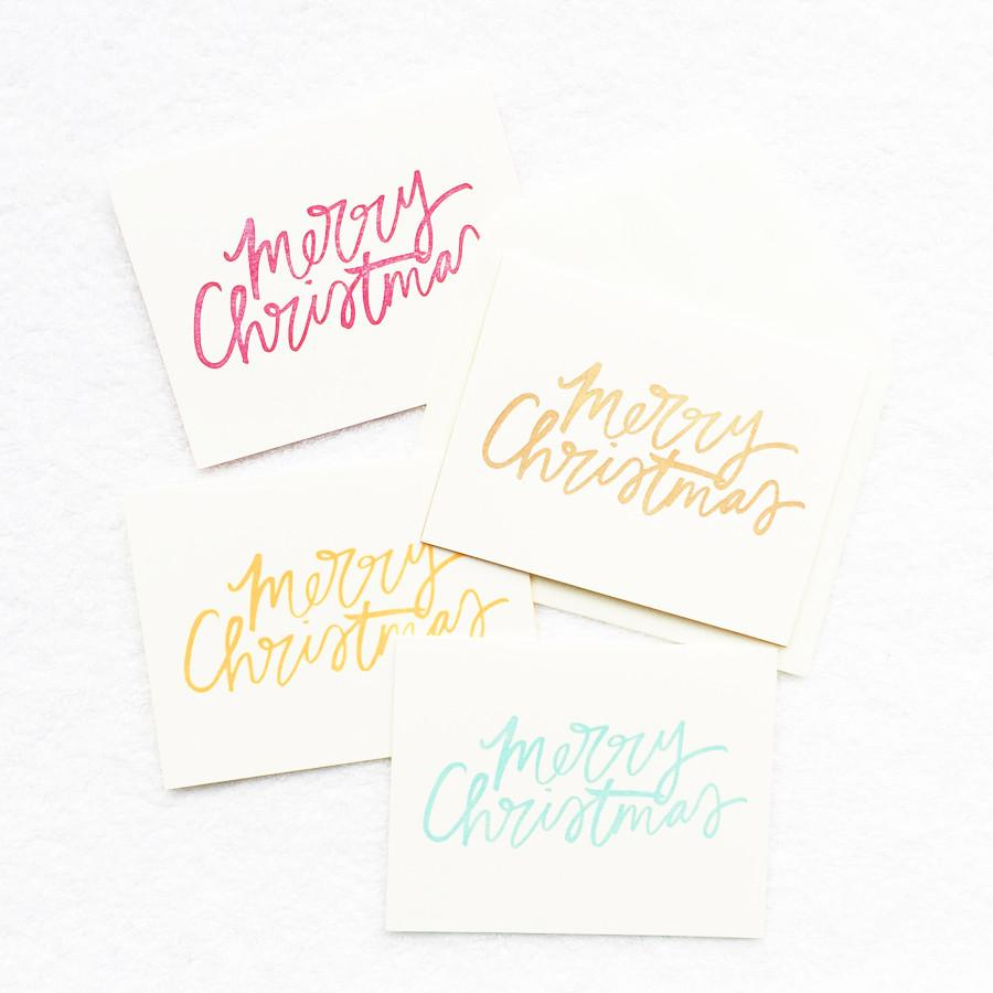 Merry Christmas Card (Set of 8) Christmas Cards Mint & Ordinary