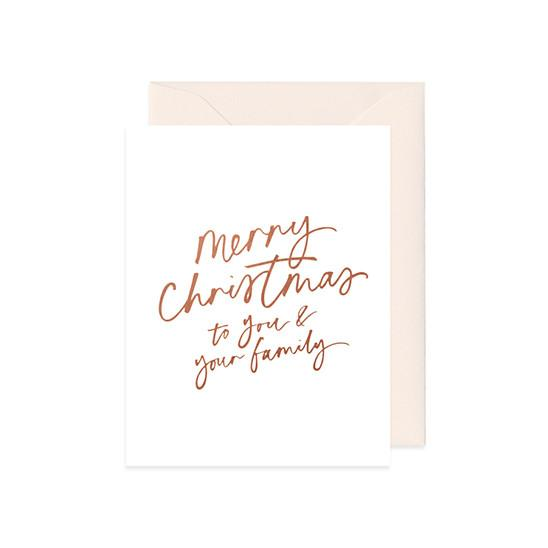 Merry Christmas (Copper) Card - Christmas Cards - Mint & Ordinary - Naiise
