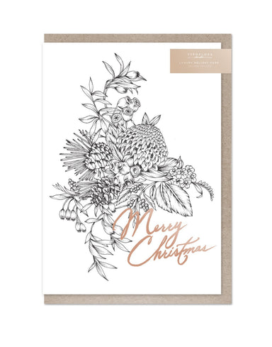 Merry Christmas Foil Card - Christmas Cards - Typoflora - Naiise
