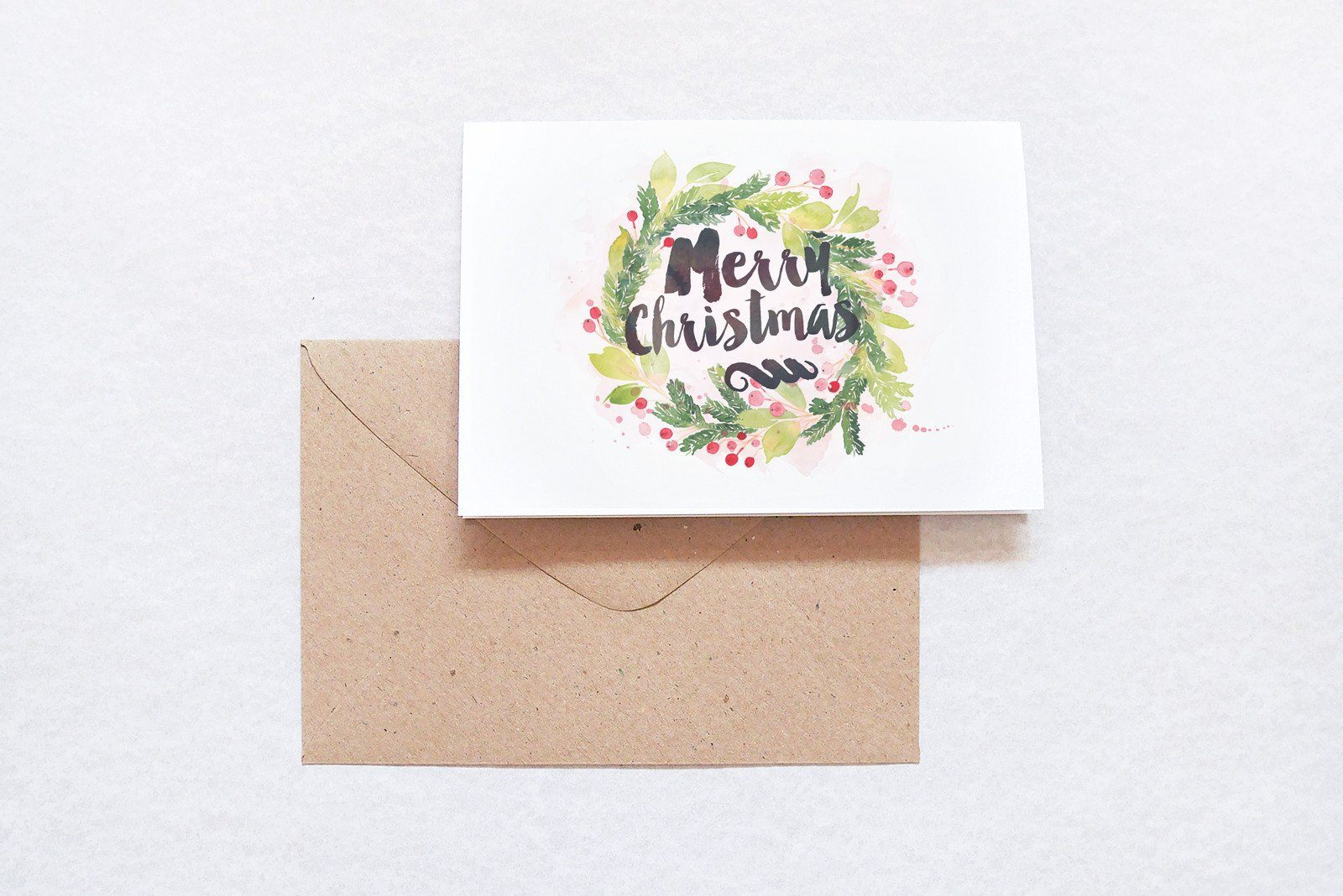 Merry Christmas Typography Card - Christmas Cards - TispyTopsy - Naiise