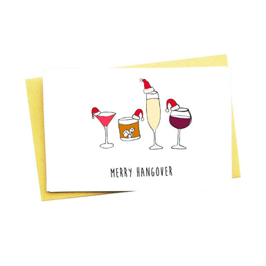 Merry Hangover Christmas Card - Christmas Cards - Nocturnal Paper - Naiise