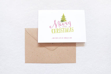 Merry Little Christmas Card Christmas Cards TispyTopsy
