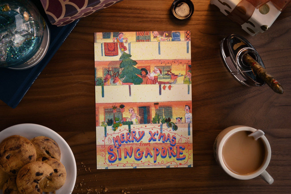 Merry Xmas from SG Postcards - Hello Neighbours (Single) Local Postcards Dale Lam