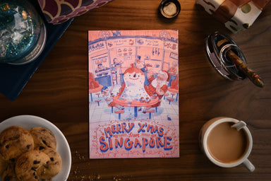 Merry Xmas from SG Postcards - Ice Kachang Snowman (Single) Local Postcards Dale Lam
