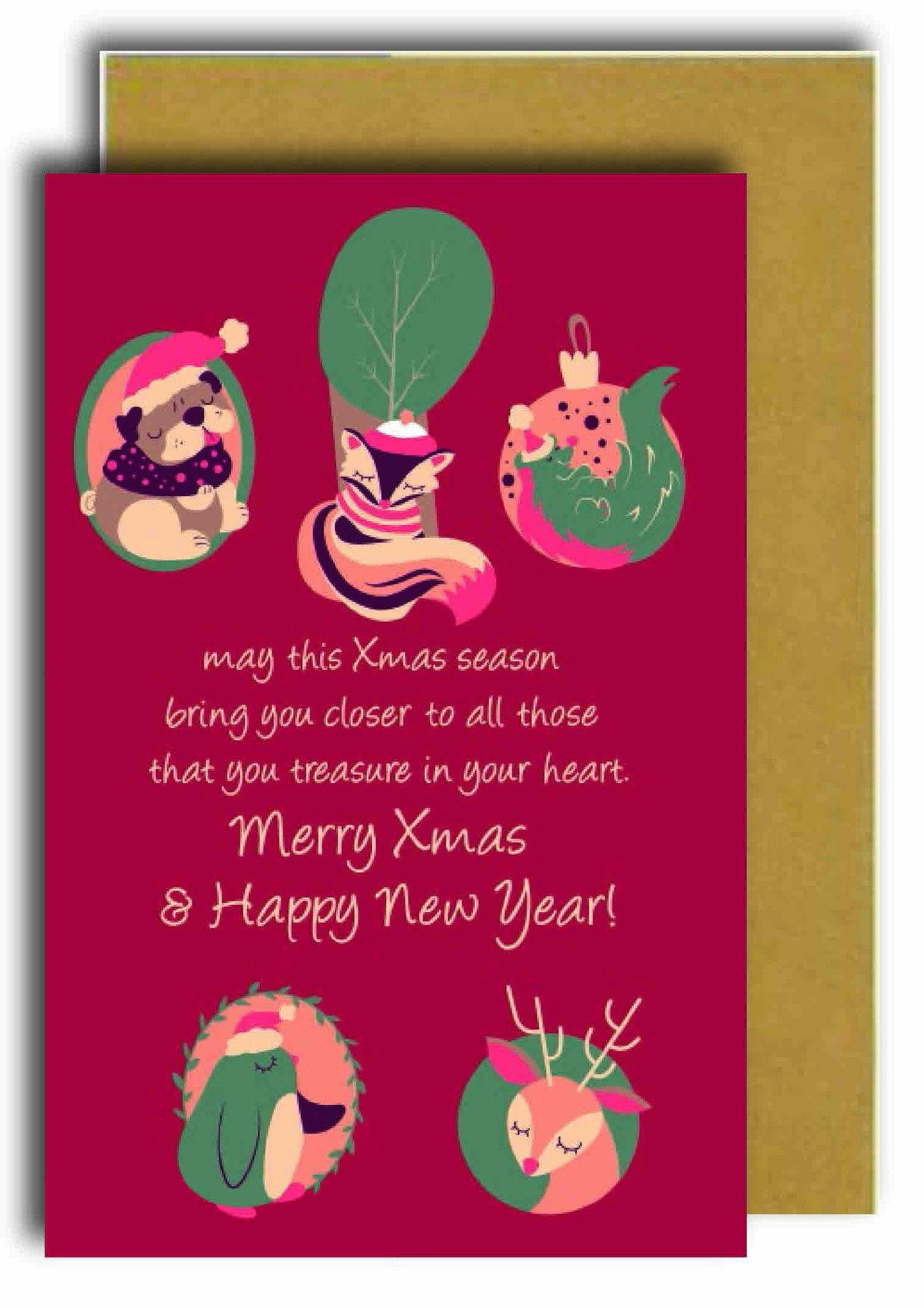 Merry Xmas & Happy New Year Greeting Card - Naiise