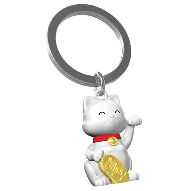 Metalmorphose Lucky Cat Keychain New Arrivals Zigzagme