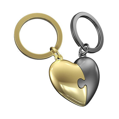 Metalmorphose Puzzle Heart Keychain New Arrivals Zigzagme