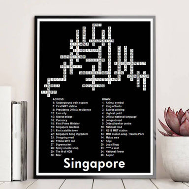 Singapore Crossword Print Local Prints Big Red Chilli