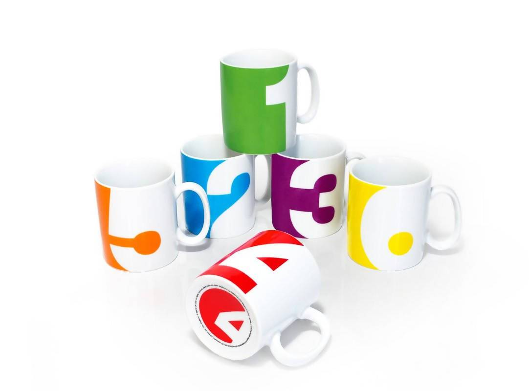 Suck UK - Number Mugs (Set of 6) - Mugs - The Planet Collection - Naiise