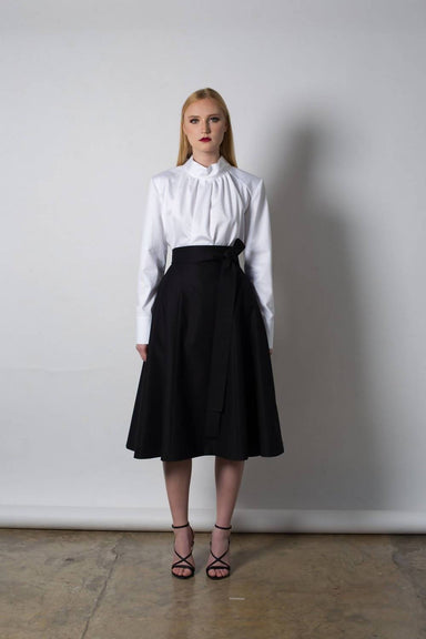 Midi Skirt with Obi Belt - Preorder Skirts Silvia Teh