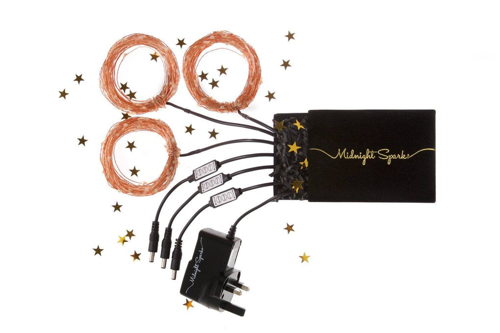 Midnight Sparks ACDC Powered Fairy Lights (with Remote Control) Fairy Lights Midnight Sparks