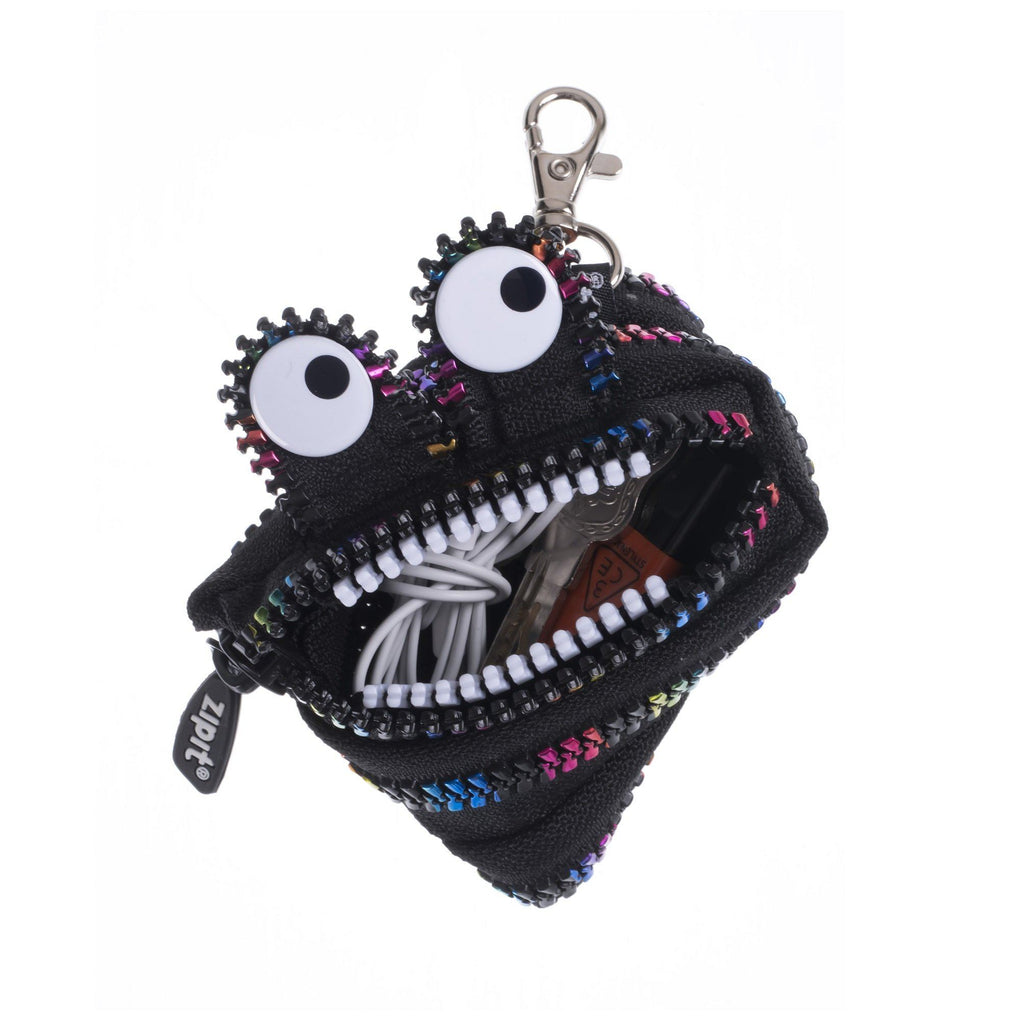 Mini Monster Pouch Blk & Rainbow Pouches Zipit