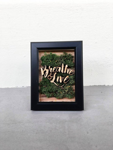 Mini Mossframe - Breathe and Live - Home Decor - InOut Atelier - Naiise