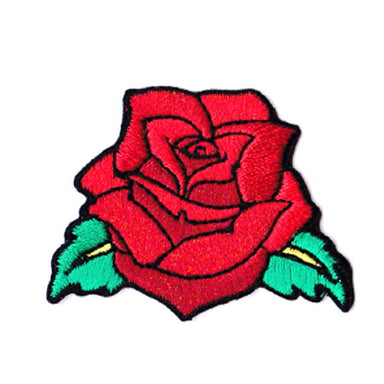 Mini Red Rose Iron On Patch - Sticker Patches - Pew Pew Patches - Naiise