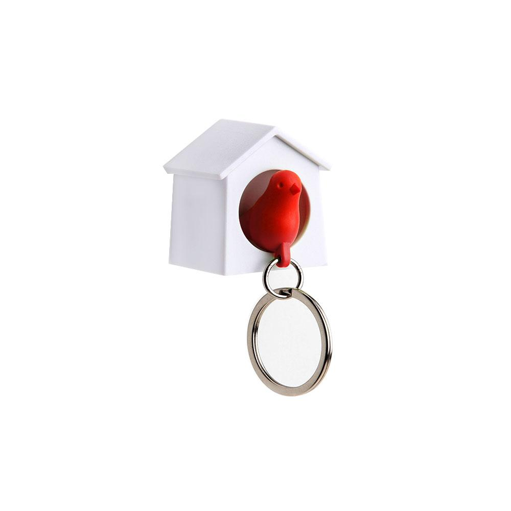 Mini Sparrow Key Ring Key Holders Qualy Red