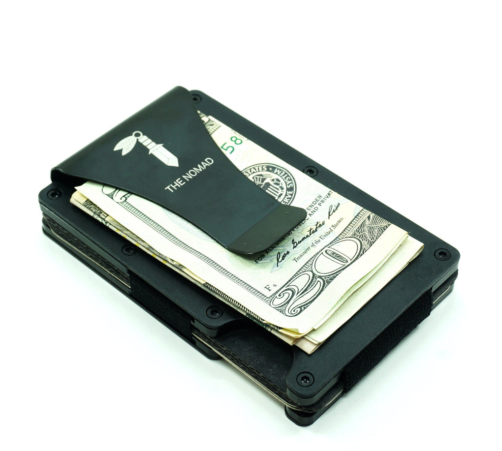 Minimalist Black Aluminium Card Holder Card Holders The Nomad